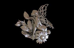 fairy flowers 3D model