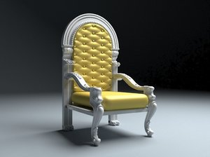 3D king throne 4 model