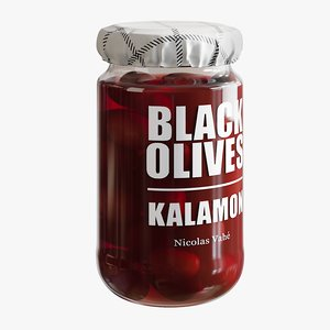 3D realistic kalamon olives model