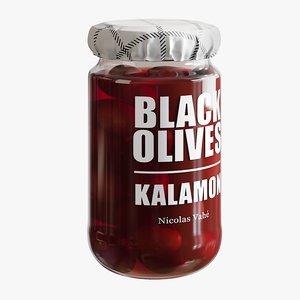 3D realistic kalamon olives model