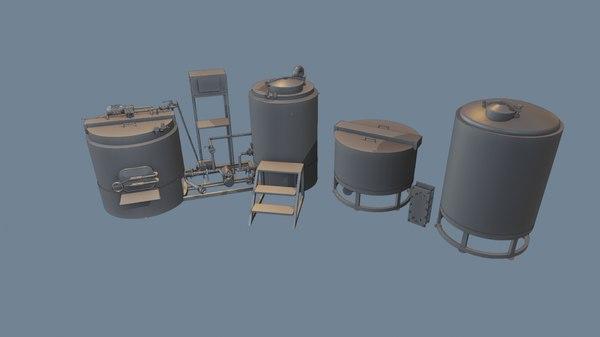 bear brewery 3D
