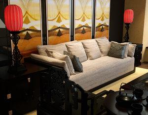 chinese living room 3D model
