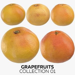 3D grapefruits 01