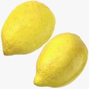3D lemons 03 model