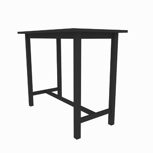 3D small table model