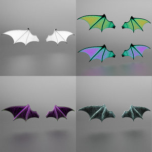 wing bat halloween 3D