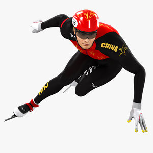 animations speed skater 3D