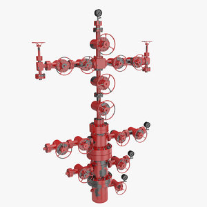 oilfield wellhead oil 3D model
