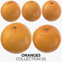 oranges 01 3D model