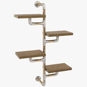 3D loft shelf model