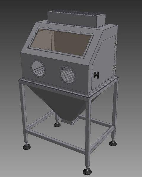 3D industrial shot blasting model