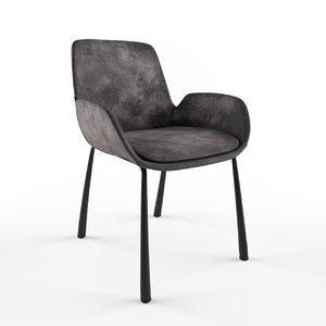 3D model chair zuiver brit