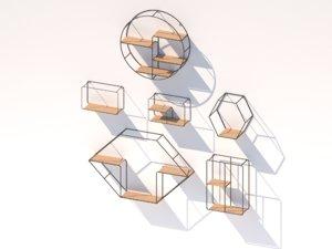 hanging shelfs 3D