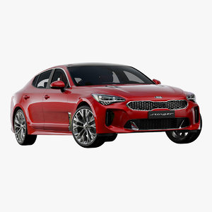 3D 2019 kia stinger model