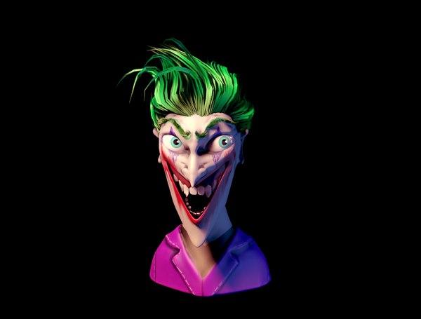 3D joker face