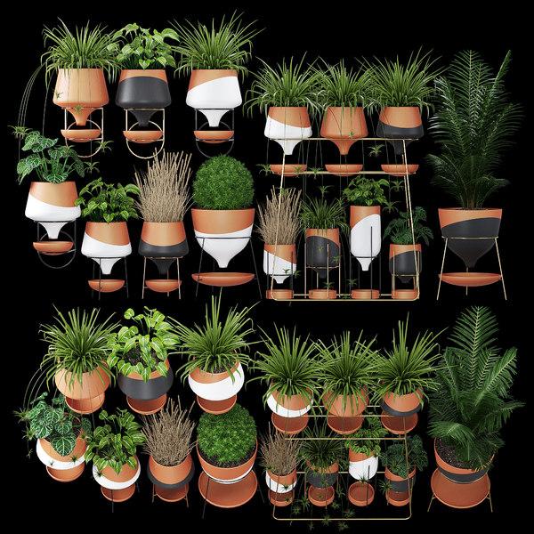 3D clay pots model