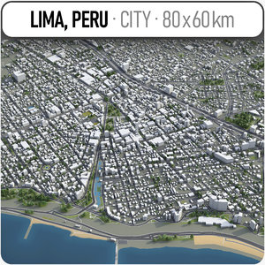 3D lima surrounding area - model