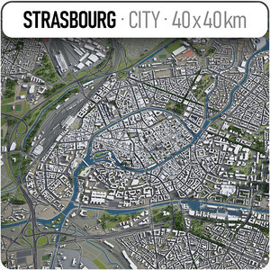 3D strasbourg surrounding area - model