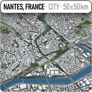 3D nantes surrounding area -