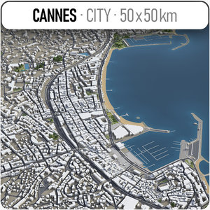 3D cannes surrounding area -