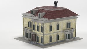 old victorian house 3D