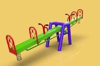 seesaw teeterboard playground 3D model