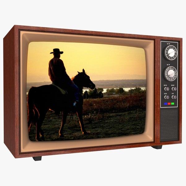 color crt tv electron 3D model