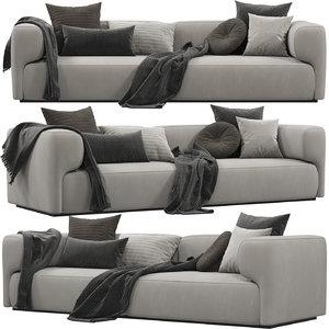 3D model future katty sofa