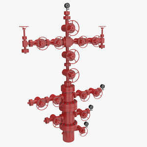 3D oilfield wellhead oil