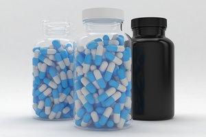 3D pills jar 300cc model
