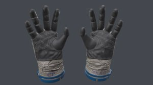 gloves cosmonaut russia 3D model
