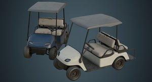 3D model golf cart 1b