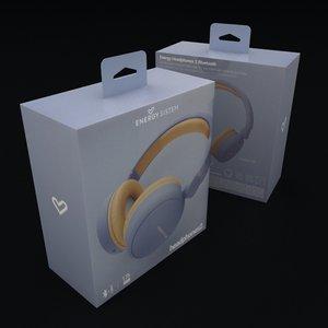 headphones box 3D model