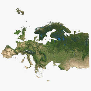 europe natural color 3D model