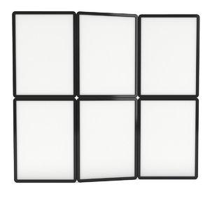blank fold banner stands model