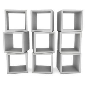 product display boxes platform 3D