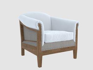 3D avis armchair crearte roxy