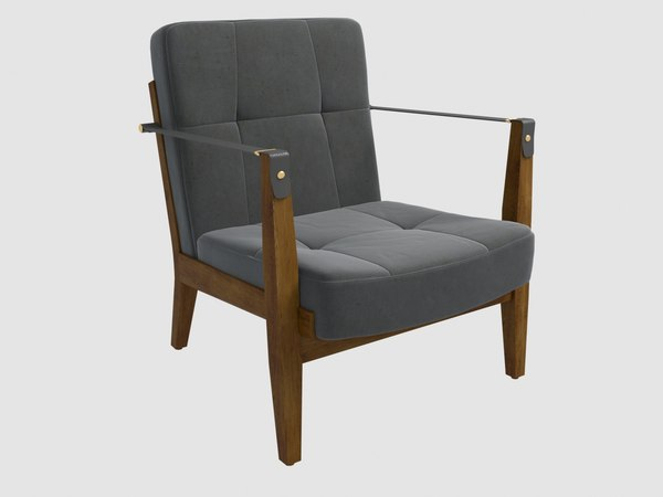3D model capo lounge chair neri