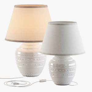 3D white table lamps ikea