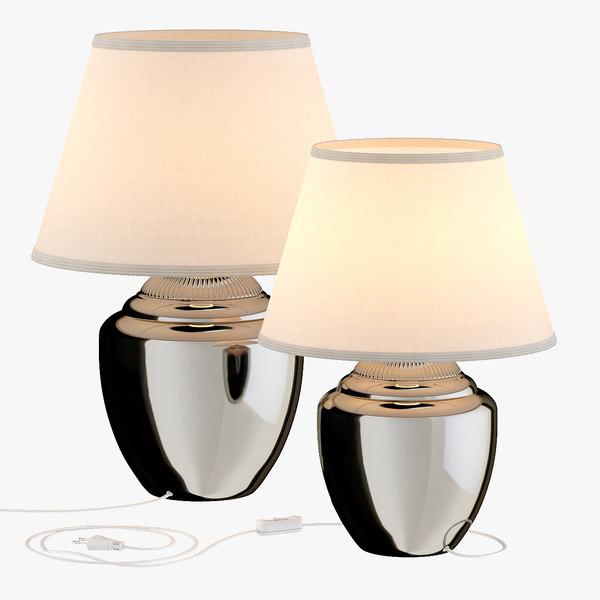 Modello 3d Lampada Da Tavolo Ikea Rickarum In Argento Turbosquid 1466248