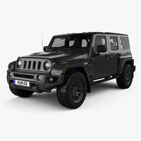 Jeep Wrangler Project Kahn JC300 Chelsea Black Hawk 4-door RHD with HQ interior 2016