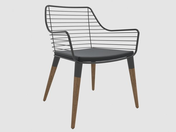 mercury outdoor armachair fenabel 3D model