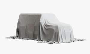 3D model fabric drapery car