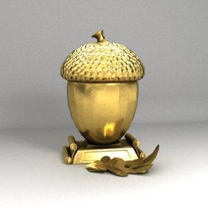 golden acorn 3D