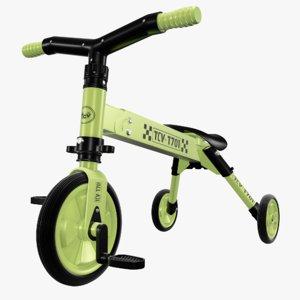 3D model bike wheels kids