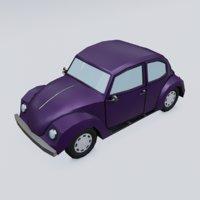 3D cartoon car model