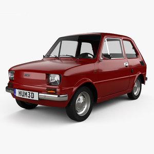 3D model fiat 126 1976