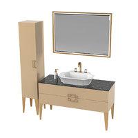 3D oasis bathroom furniture model