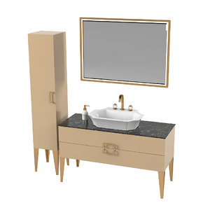 3D oasis bathroom furniture model
