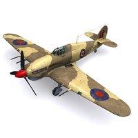 hurricane fighter 94 squadron 3D